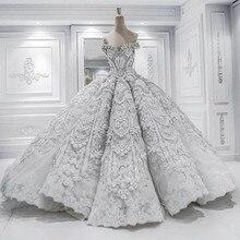 Princess Ball Gown Pretty Scoop Wedding Dress chapel long train luxury Vestido De Novia 2017 Casamento Bride Wedding Dresses New