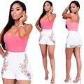 Mulheres Calções de Verão Bodysuit Rompers Macacão Womens Sexy Backless Bodycon Macacões combinaison da American Apparel femme