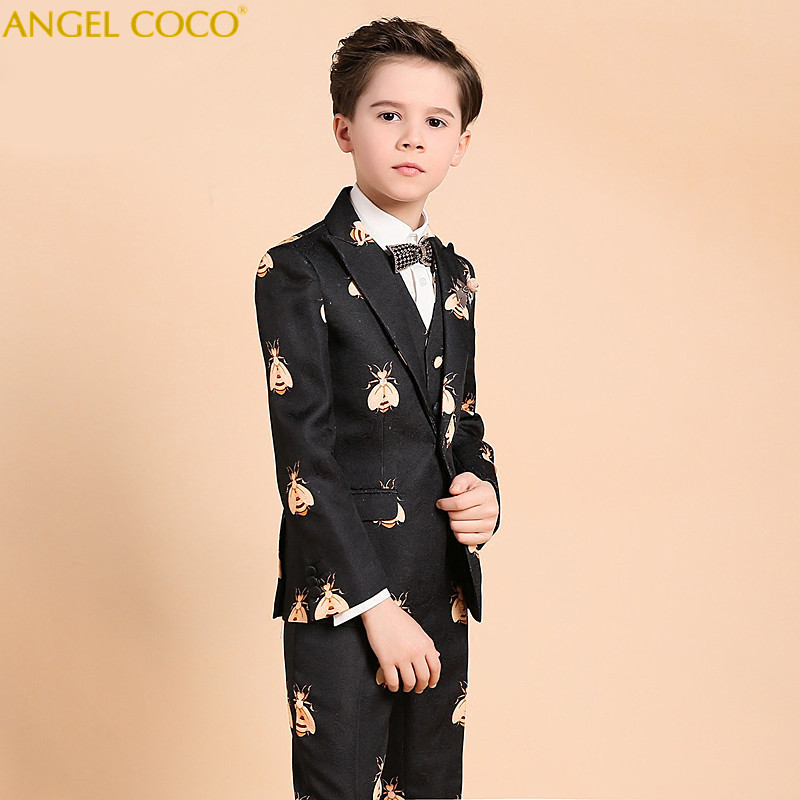 068dce1762 Children s Suit For Boy Evening Dress Print Catwalk Piano Costumes Clothes  For Teenagers Costume Mariage Homme