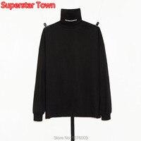 KPOP Bigbang G Dragon T shirt GD High Collar Long Sleeve Tops Fashion Korea Style Unisex Shirts Peaceminusone Turtleneck Tee