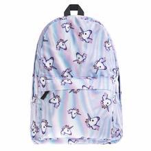 Lodogsow Новый Для Женщин Единорог Рюкзак 3D печати путешествия Softback Сумка Mochila школа Cat Тетрадь рюкзак для Обувь для девочек Рюкзаки Y3