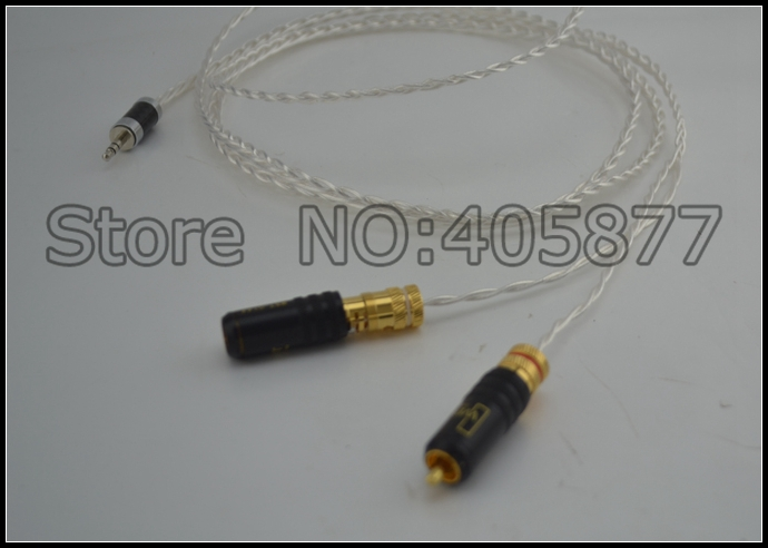 Здесь можно купить  High quality occ silver plated Mini Stereo 3.5mm TO 2 RCA AUX Audio Cable 1M  Бытовая электроника