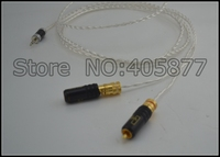 High quality occ silver plated Mini Stereo 3.5mm TO 2 RCA AUX Audio Cable 1M