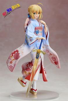 Anime Figure 25 Cm Fate Stay Night Kimono Saber Kimono Ver. Pvc Action Figure Collectible Toy Brinquedos Model Christmas Gift