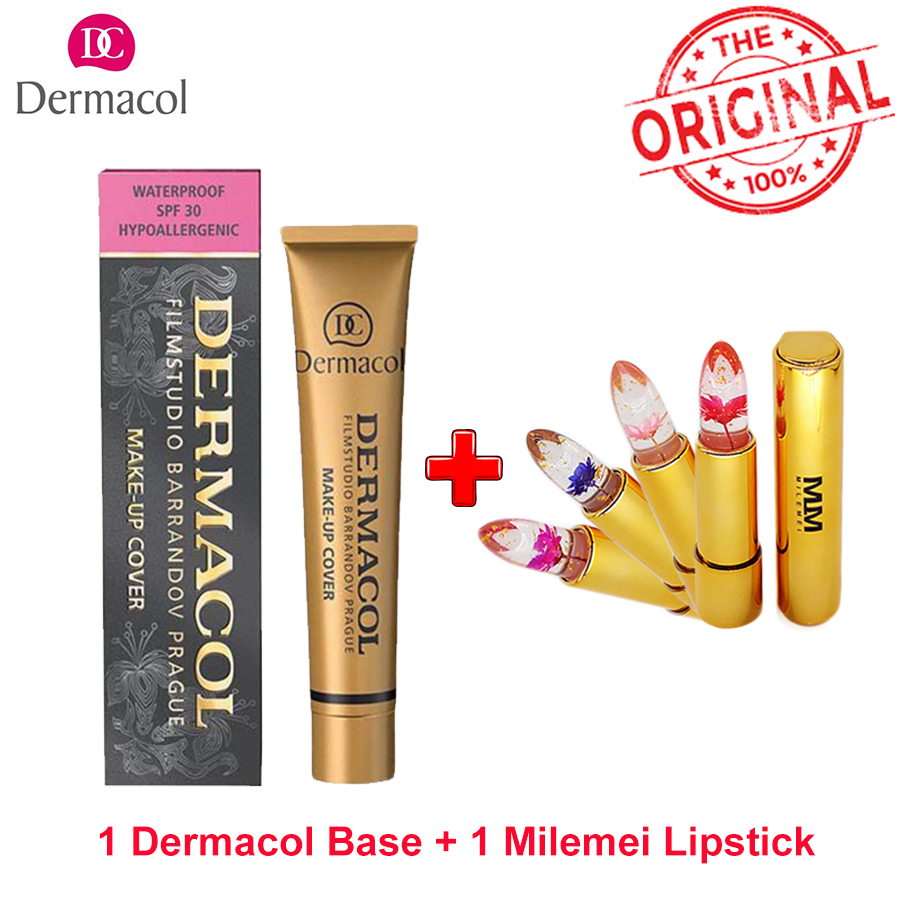 Original Dermacol Make up Cover Primer Concealer Base Professional Face Dermacol Makeup Foundation Contour Palette Makeup Base тональная основа dermacol make up cover 218 цвет 218 variant hex name dbae85