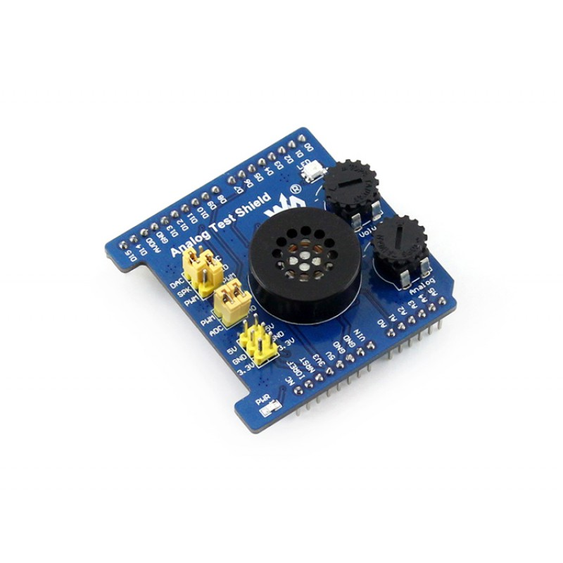 module Waveshare Analog Test Shield , AD/DA expansion board, functionalities of both AD acquisition and DA output. waveshare vga ps2 board accessory transform test module for vga ps2 control connector blue