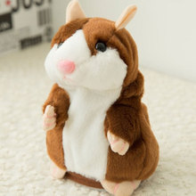 Dropshipping Promotion 15cm Lovely Talking Hamster Talk Sound Recording Repeat Stuffed Animal Kawai Toys