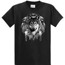 c3dbd955c1a Native Am Wolf Dream Catcher Printed T Shirt Mens Reg To Big Tall Port Co