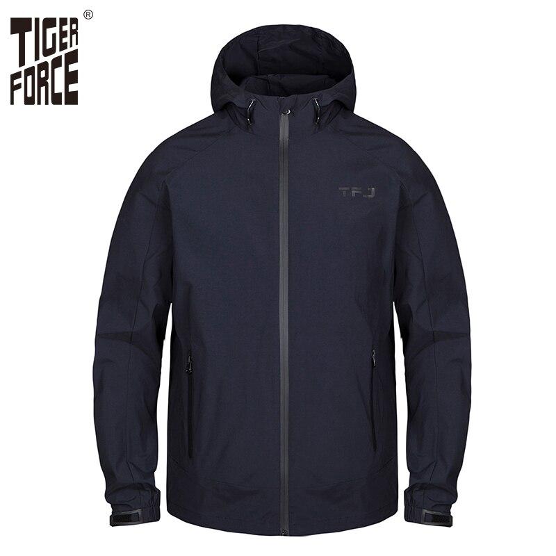Tiger Force 2019 Nouveau Hommes veste de printemps À Capuchon décontracté Coupe-Vent grande taille Mode Bomber Veste Homme manteau coupe-vent Survêtement