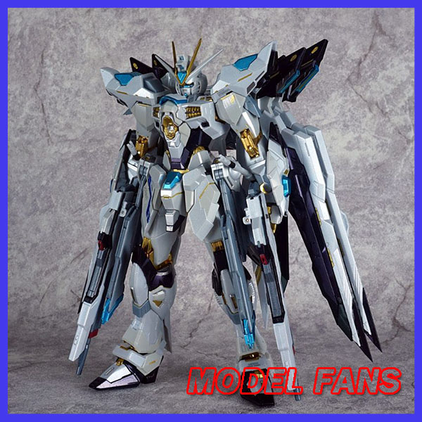 MODEL FANS IN-STOCK metalclub metalgear metal build MB Gundam strike freedom white color high quality action figure model fans in stock metalgearmodels metal build mb gundam oo raiser oor trans am system color action figure