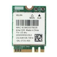 QCNFA364A Killer 1535 NGFF 867M Wireless 802.11ac + Bluetooth 4.1 WIFI WLAN Card 1535 VM1D6 for Dell Alienware 13 R2 15 R2 17 R3