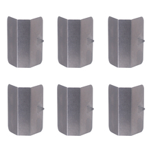2019 New 6 Pcs Universal Car Rain Eyebrow Clip In Channel Wind / Rain Deflectors Fitting Clips Replacements Stainless Steel