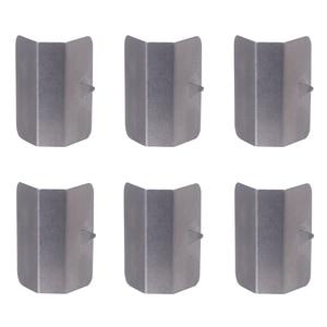 Image 1 - 2019 novo 6 pçs universal carro chuva sobrancelha clipe no canal vento/chuva defletores montagem clipes substituições de aço inoxidável