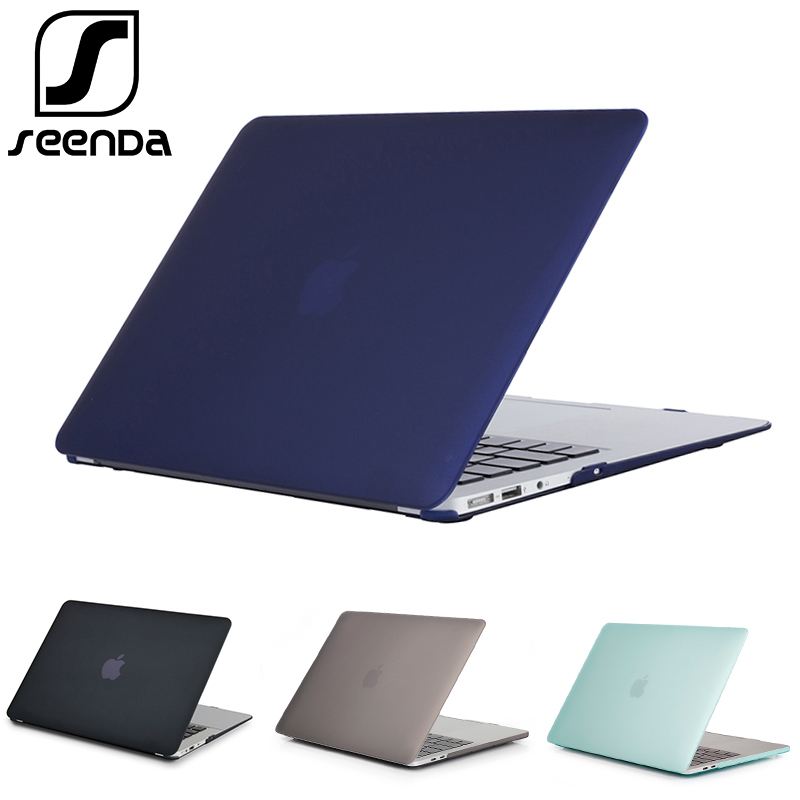 SeenDa Hard Matte Laptop Protective Cover For Apple Macbook Pro 13 2017 Case Notebook Cover For Mac book Air 13.3 Inch Shell Bag цена и фото