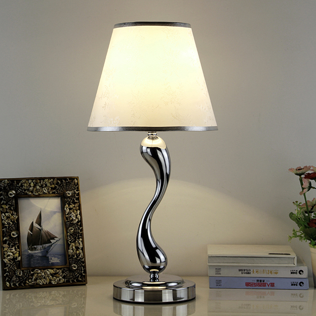 modern stainless steel iron white table lamps wire drawing bedroom ...