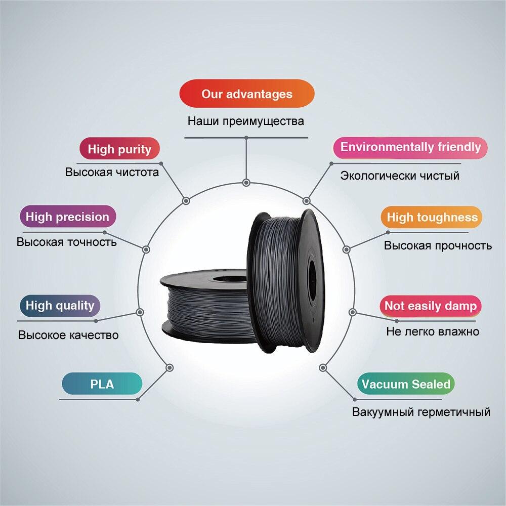 Anet 3d Printer Filament 1.75mm 0.5kg/1kg/spool PLA ABS Printing Materials for 3D Printer Extruder 3d Pen 3D Filament Plastic