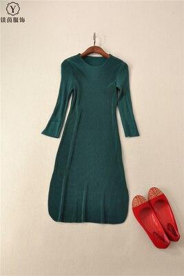 Genou Plier Quarts gris Robe Stock Noir D'o En rouge Gratuite vert Livraison longueur Couleur cou Trois Solide Miyake gwUOvEyqE