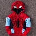 Hot 2017 Moda Primavera Crianças Hoodies Meninos Trajes de Super-heróis das Crianças Camisolas Meninas Casacos Esportivos Spiderman Capitão Cosplay
