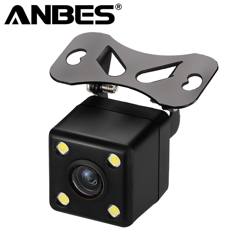 Anbes Rear View Camera Waterproof Full HD CCD Car Rear Camera 4 LED Night Vision Car Parking Assistance Parktronic Camera