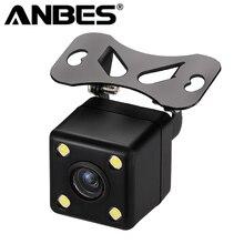 Anbes заднего вида Камера Водонепроницаемый Full HD CCD заднего Камера 4 светодиодных Ночное видение автомобиля Парковочные системы парктроник Камера