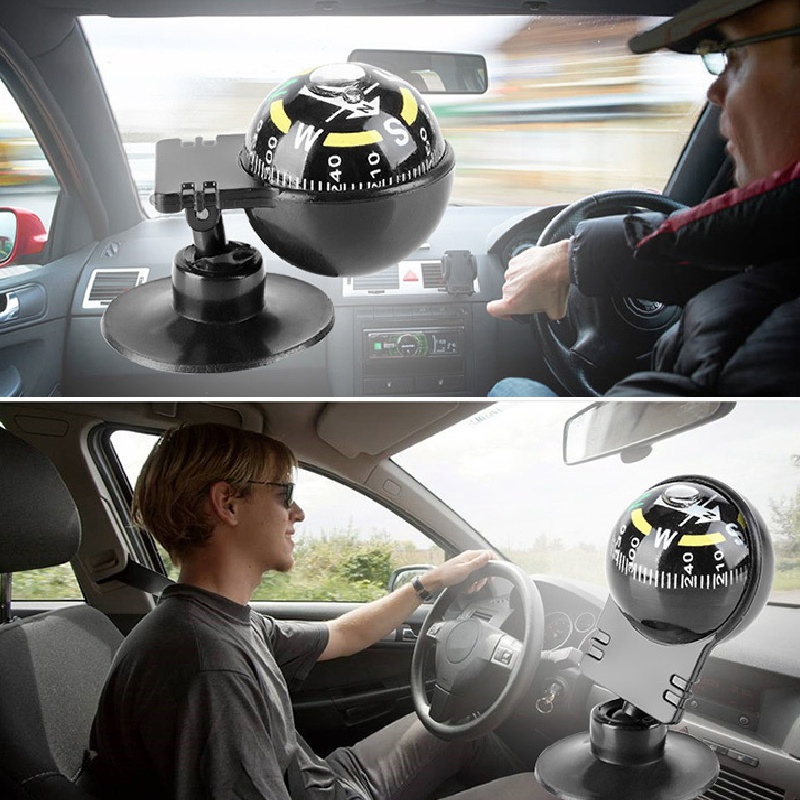 pocket ball dashboard dash mount navigation compass car boat truck suction/'black