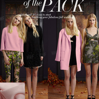 The pale pink spring high grade wool cashmere wool blended fabric coat Mynott Coat Fabrics