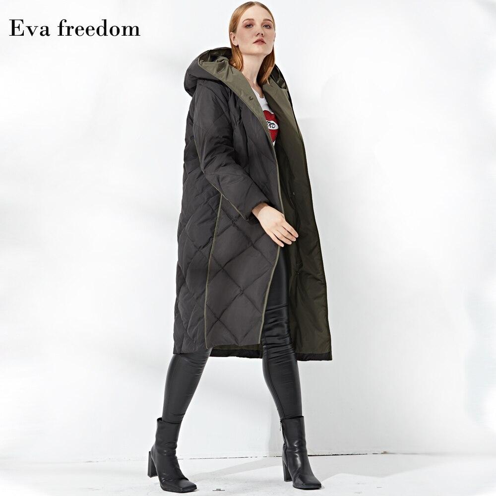 Hiver Veste Contraste Diamant De Couleur À Mode Black 2018 Le Vers Bas Ef12058 Nouvelle Pour Capuchon Longue Femmes Vérifier Arrivée Manteau d8O1w