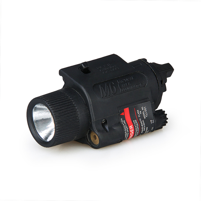 M6 Tactical Flashlight Red Laser Combo with Rocker Switch/M6 Tactical Laser Illuminator  gs15-0015