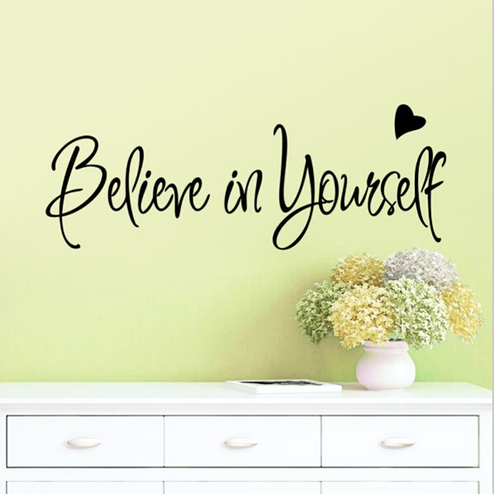 Believe In Yourself Wall Sticker Decor Living Room Decals ...