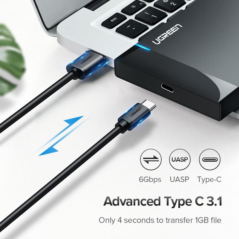 Ugreen HDD Case 2.5 SATA to USB 3.0 ადაპტერის - შემნახველი წყაროები - ფოტო 2