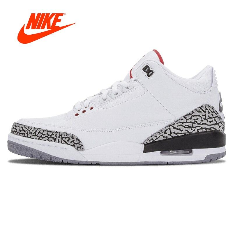 Оригинальный Новое поступление Аутентичные Nike Air Jordan 3 Ретро '88 AJ3 OG Джо 3 белый Для Мужчин's Баскетбольные кеды Спортивная обувь Спорт 580775 -160