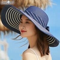 Yaz Zarif Kadın Büyük Ağız Organze Güneş Şapka Mor Mavi Gazlı Bez Ile Kilise Korumak Uv Plaj Cloche Fedora Bayanlar Yay şapka