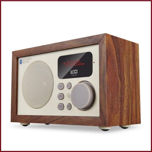 D50 Ретро Многофункциональный Древесины Bluetooth-динамик С Fm-радио