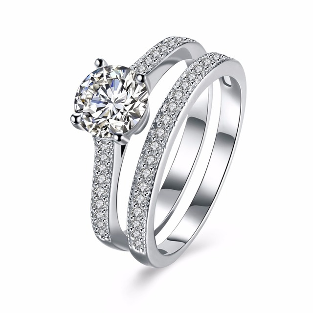 Alliance Jewelry Ring Promise Engagement Double Rings For S Men Women Gold Color Pairs Wedding