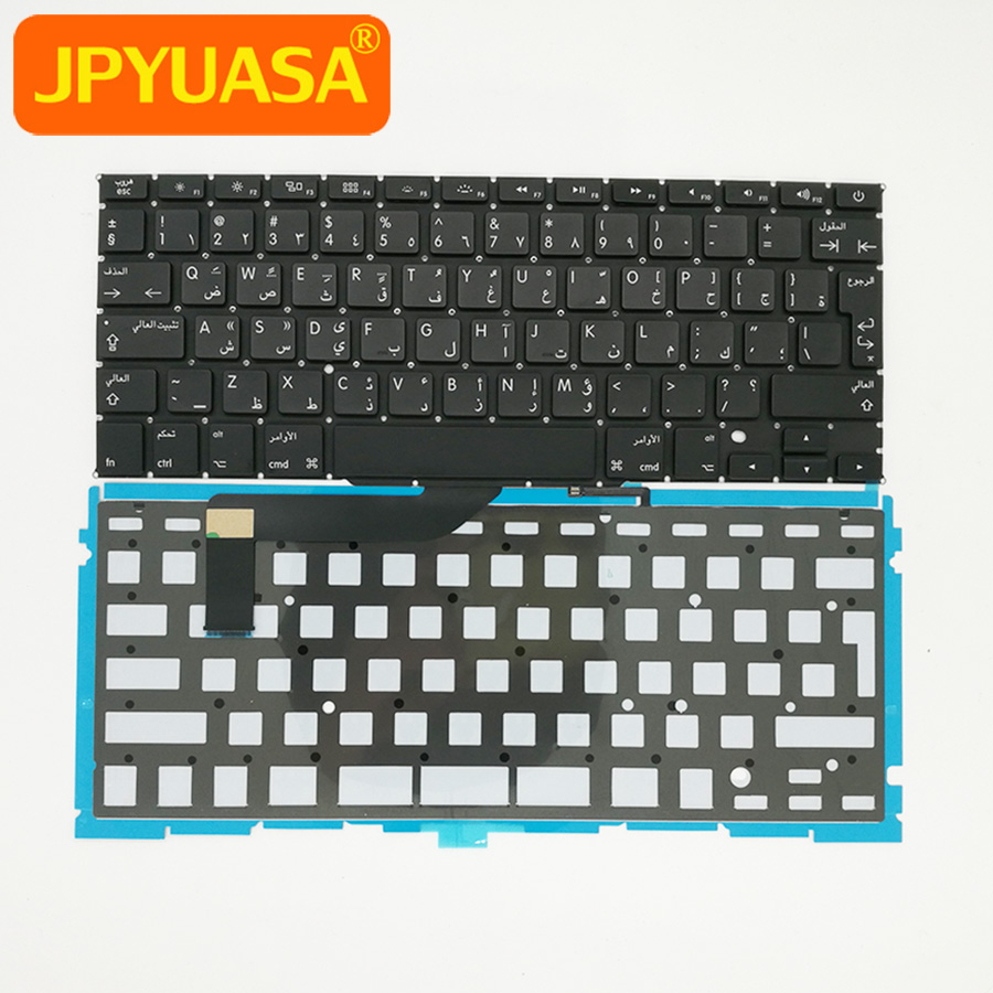 10pcs/lot New A1398 Arabic Keyboard with Backlight For MacBook Retina Pro 15 A1398 AR Keyboard Replacement 2012-2015