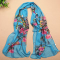 Aautumn Women British Scarf Two Magpies Shawls And Scarves Pashmina Shawls India Bufandas De Seda Lady Scarf Ombre Hijab WJ065