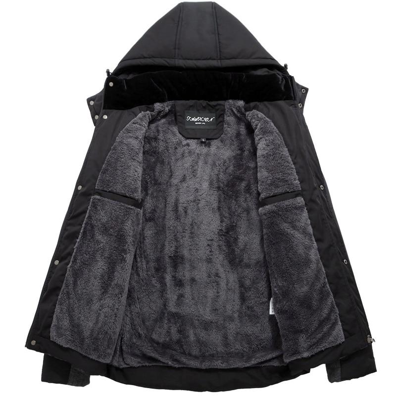Winterjas Heren zwarte puffer jas warme mannelijke jas parka uitloper - Herenkleding - Foto 3