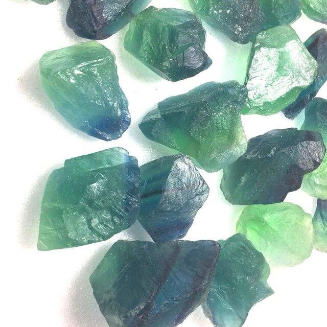 100g Natural Raw Blue Green Fluorite Rough Stone Quartz Crystals Mineral Stoneinerals