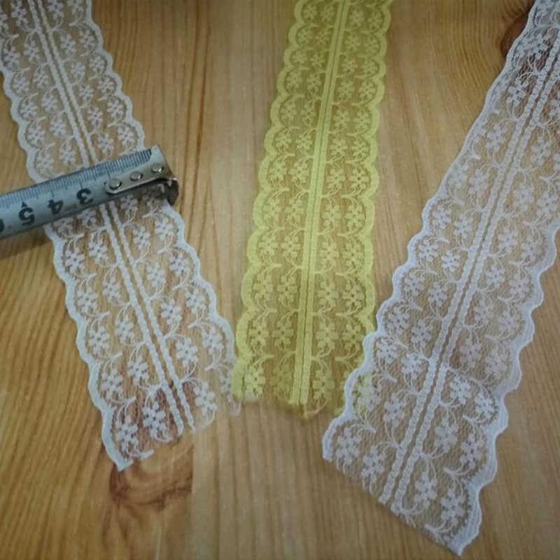 高品質 10 ヤードレースリボンテープ幅 45 ミリメートルトリムファブリック diy 刺繍がネットコード裁縫装飾アフリカレース生地