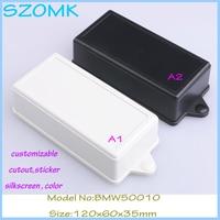 10 pcs/lot free shipping (10pcs)plastic enclosure box for electronic wall mount abs plastic box black junction box 120*60*35mm