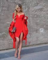 Toptan yeni dress kırmızı kısa kollu slash boyun streç sıkı mini kadın kokteyl parti bandaj dress (l1774)