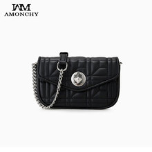 New Mini Leather Women Crossbody Bags Famous Brand Diamond Lattice Shoulder Bag Fashion Rhombus Lock Female Messenger Bags 2019