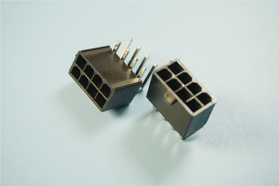 1000pcs 4 2 mm 8 Pin Header Male Pin 0 165 Right Angle Computer ATX graphics