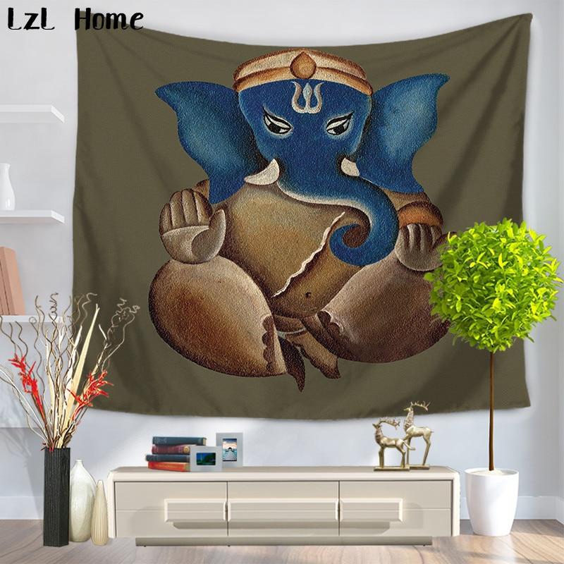 LzL Home Elephant Wall Hanging Ddecor Indian Mandala Animales Tapestry Hippie Boho Beach Throw Towel Yoga Mat Bedspread Dorm