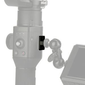 Image 4 - מצלמה צג הרכבה צלחת וידאו הארכת מתאם עבור DJI ללא מעצורים S Gimbal Extender מייצב עם 1/4 בורג עבור קסם זרוע מיקרופון