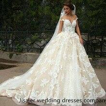 Mrs win 2019 Lace 3D Appliqued A-Line Wedding Dress
