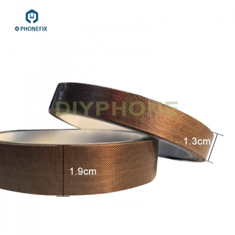 PHONEFIX 13mm 19mm Heat Resistant High Temperature Adhesive Tape Tawny BGA Tape For Mobile Phone Motherboard Repair Tool