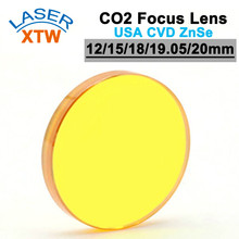 USA ZnSe Co2 Laser Lens 12 15 18 19.05 20mm Dia. FL 50.8 63.5 101.6mm Focus Length For Laser Engraving and Cutting Machine стоимость