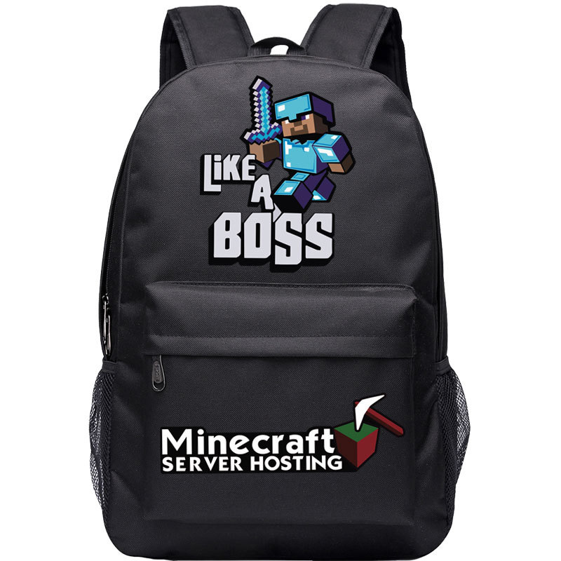 Minecraft Backpack Teenager School Bag Hot Cartoon Boys Girls Primary Schoolbag Game Men Women Rucksack Mochila Sac A Dos BP0255 new shark backpack women black bookbags mochila colegio fashion primary school backpacks cartoon boys rucksack men bagpack bolsa