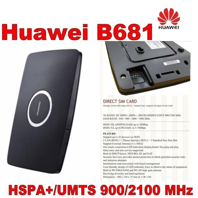הרבה 500 יחידות מותג חדש, נתב נתב Huawei B681 3 גרם 3 גרם, DHL חינם